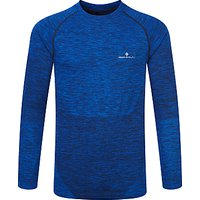Ronhill Long Sleeve Running Top, Cobalt/Black