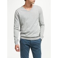 Scotch & Soda Classic V-Neck Jumper, Grey Melange