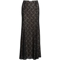 Gina Bacconi Lace Fishtail Maxi Skirt, Black