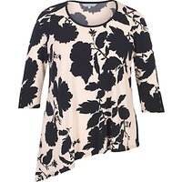 Chesca Floral Print Jersey Tunic, Blush/Navy