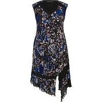Chesca Floral Print Dress, Cobalt