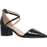 Miss KG Ava Block Heeled Court Shoes, Black