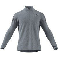 adidas Response 1/4 Zip Long Sleeve Running Top, Black