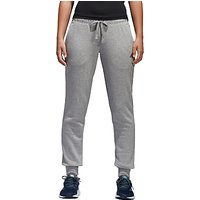 Adidas Essential Solid Tracksuit Bottoms, Grey Heather
