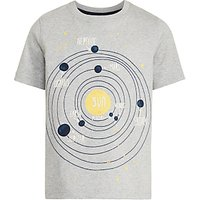 John Lewis Boys Planets T-Shirt, Grey
