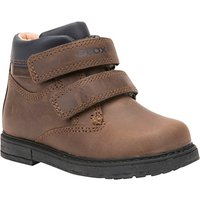 Geox Children's B Glimmer Double Riptape Boots, Brown