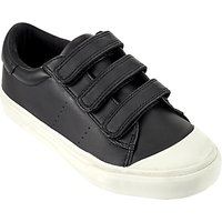 John Lewis Childrens Marco Riptape Trainers, Black