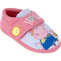 Peppa Pig Childrens Rainbow Slippers, Pink