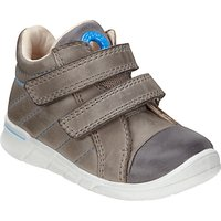 ECCO Childrens Suede Rip-Tape Shoes, Grey