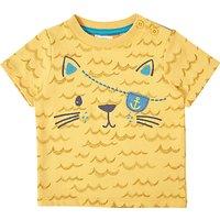 John Lewis Baby Pirate Cat T-Shirt, Yellow