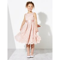 John Lewis & Partners Girls' Corded Lace Bridesmaid Dress, Pink