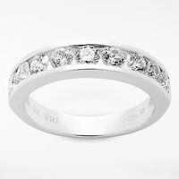 shop for Mogul 18ct White Gold Round Brilliant Channel Set Diamond Eternity Ring, 1ct at Shopo