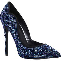 Carvela Glassy Asymmetric Court Shoes, Blue