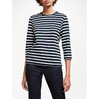 John Lewis & Partners 3/4 Sleeve Zip Back T-shirt