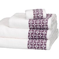 John Lewis Leckord Ditton Border Towels
