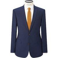 Kin by John Lewis Miller Pindot Slim Fit Suit Jacket, Bright Blue