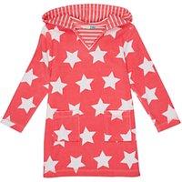 John Lewis Girls Star Towel Dress, Pink