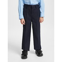 John Lewis and Partners Boys Easy Care Adjustable Waist Generous Fit School Trousers