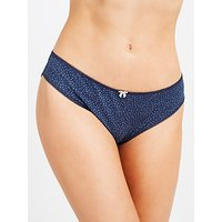John Lewis 5 Pack Feather Print Bikini Briefs, Blue/Multi