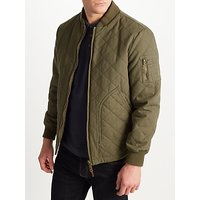 JOHN LEWIS & Co. Quilted Bomber Jacket, Khaki