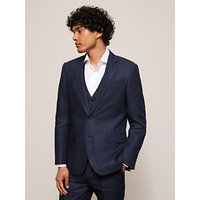 John Lewis and Partners Linen Regular Fit Suit Jacket, Navy