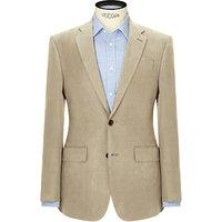 John Lewis and Partners Silk Linen Regular Fit Suit Jacket, Stone