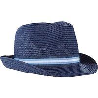 John Lewis Childrens Straw Trilby Hat, Navy