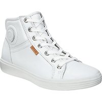 ECCO Childrens First Mid-Cut Lace-Up Leather Trainers