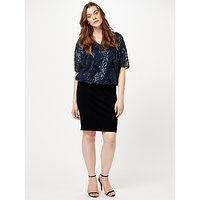 Studio 8 Roselle Dress, Navy/Black