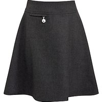 John Lewis Girls Easy Care Adjustable Waist A-Line School Skirt