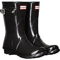Hunter Womens Original Short Gloss Wellington Boots, Black