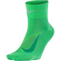 Nike Unisex Dry Elite Lightweight Quarter Running Socks, Green/Blue