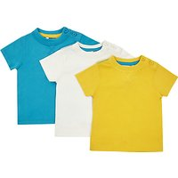 John Lewis Baby Short Sleeve Jersey Cotton T-Shirt, Pack of 3, Multi