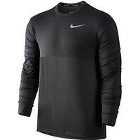 Nike Zonal Cooling Relay Long Sleeve Running Top, Grey