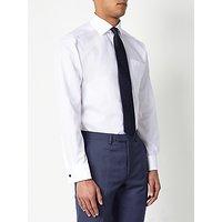 John Lewis & Partners Non Iron Twill Double Cuff Regular Fit Shirt, White