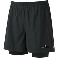 Ronhill Stride Twin 5 Running Shorts, Black