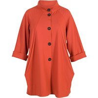 Chesca Button Detail Coat, Burnt Orange