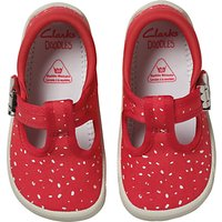Clarks Childrens Doodles Choc Cake Canvas Shoes, Pink/White