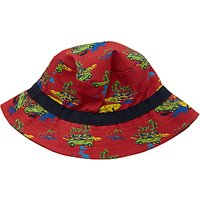 John Lewis Childrens Cuba Car Print Bucket Hat, Dark Orange