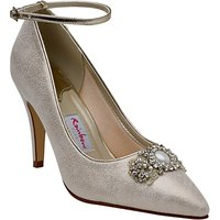 Rainbow Club Ceri Embellished Stiletto Court Shoes, Champagne