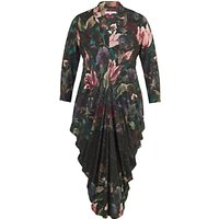 Chesca Floral Border Print Jersey Dress, Black/Multi