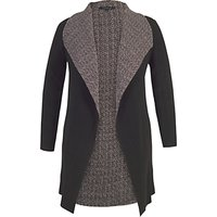Chesca Reversible Herringbone Shrug, Black/Cream