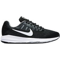 Nike Air Zoom Structured 20 Womens Running Shoes, Black/White/Grey