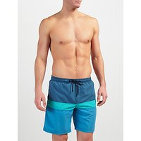 John Lewis Cut and Sew Block Swim Shorts, Blue
