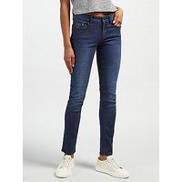 Calvin Klein High Rise Sculpted Skinny Jeans, Dark Rinse
