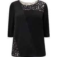 Studio 8 Safire Lace Detail Top, Black