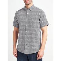 John Lewis Lincot Smarter Check Short Sleeve Shirt, Navy