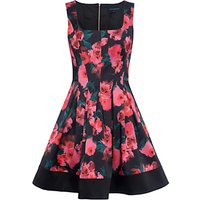 French Connection Allegro Poppy Satin Dress, Multi
