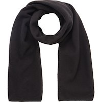 School Fleece Scarf, One Size, Black