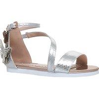 Mini Miss KG Flutterby Metallic Sandals, Silver Metallic